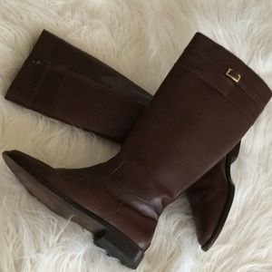 Leather 💞BANANA REPUBLIC 💞high zipper boots